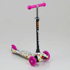 """Самокат трехколесный  """"Best Scooter"""" 1296, свет. колеса PU, 8 цветов, трубка руля алюминиевая"""