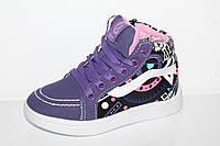 Демисезонная обувь оптом. Ботиночки для девочек оптом от производителя Clibee-1 K153 Puprle (6пар, 27-32)