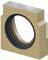 Торцевая заглушка кромка нержавеющая сталь с отводом DN 110  для канала ACO Multiline V 100 тип 5