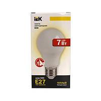 Лампа светодиодная ECO A60 шар 7Вт 230В 3000К E27 IEK.