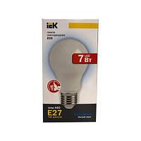 Лампа светодиодная ECO A60 шар 7Вт 230В 4000К E27 IEK.