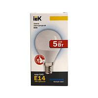 Лампа светодиодная ECO G45 шар 5Вт 230В 4000К E14 IEK.