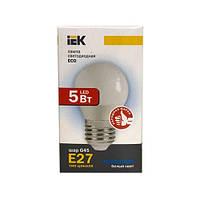 Лампа светодиодная ECO G45 шар 5Вт 230В 4000К E27 IEK.