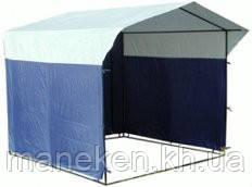 Торговая палатка 1,5Х2 каркас без ткани, фото 2