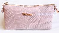 Женский клатч через плечо стильный розовый