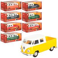 Автобус ML53606PF (72шт) металл,инер-й,12,5см,рез.колеса,8 видов,в кор-ке,16-7-7см