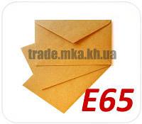 Крафт конверт Е65 120 г/м2 текстурная полоска