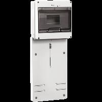 Панель для установки счетчика ПУ3/2-8 3-фазного с боксом для автоматов модульных серий (8 модулей) ИЭК. IEK