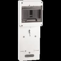 Панель для установки счетчика ПУ1/2-7 1-фазного с боксом для автоматов модульных серий (7 модулей) ИЭК. IEK