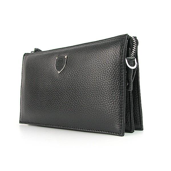 49c85a7240e9 Клатч Philipp Plein мужской черный кожаный - Интернет магазин сумок SUMKOFF  - женские и мужские сумки