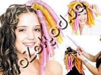 Волшебные спиральные бигуди Magic Curirollers Magic Leverage для длинных волос 50 см 18 шт, фото 1