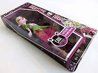 Кукла монстер хай в модном платье с бантиком куколка в сережках модная
