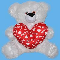Мишка с сердцем средний арт. 00-457, подарок на день Валентина, мягкие игрушки детские