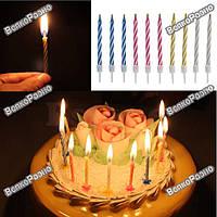 Набор свечей в торт 10 штук .Праздничные свечи