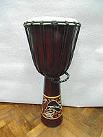 Барабан декоративный деревянный высота 72 см диаметр 32 см