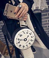 """Сумка женская с изображением """"часы"""", с длинной ручкой"""