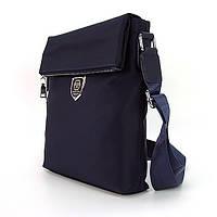 Чоловіча текстильна синя сумка Philipp Plein 0881-4 з довгою ручкою через плече