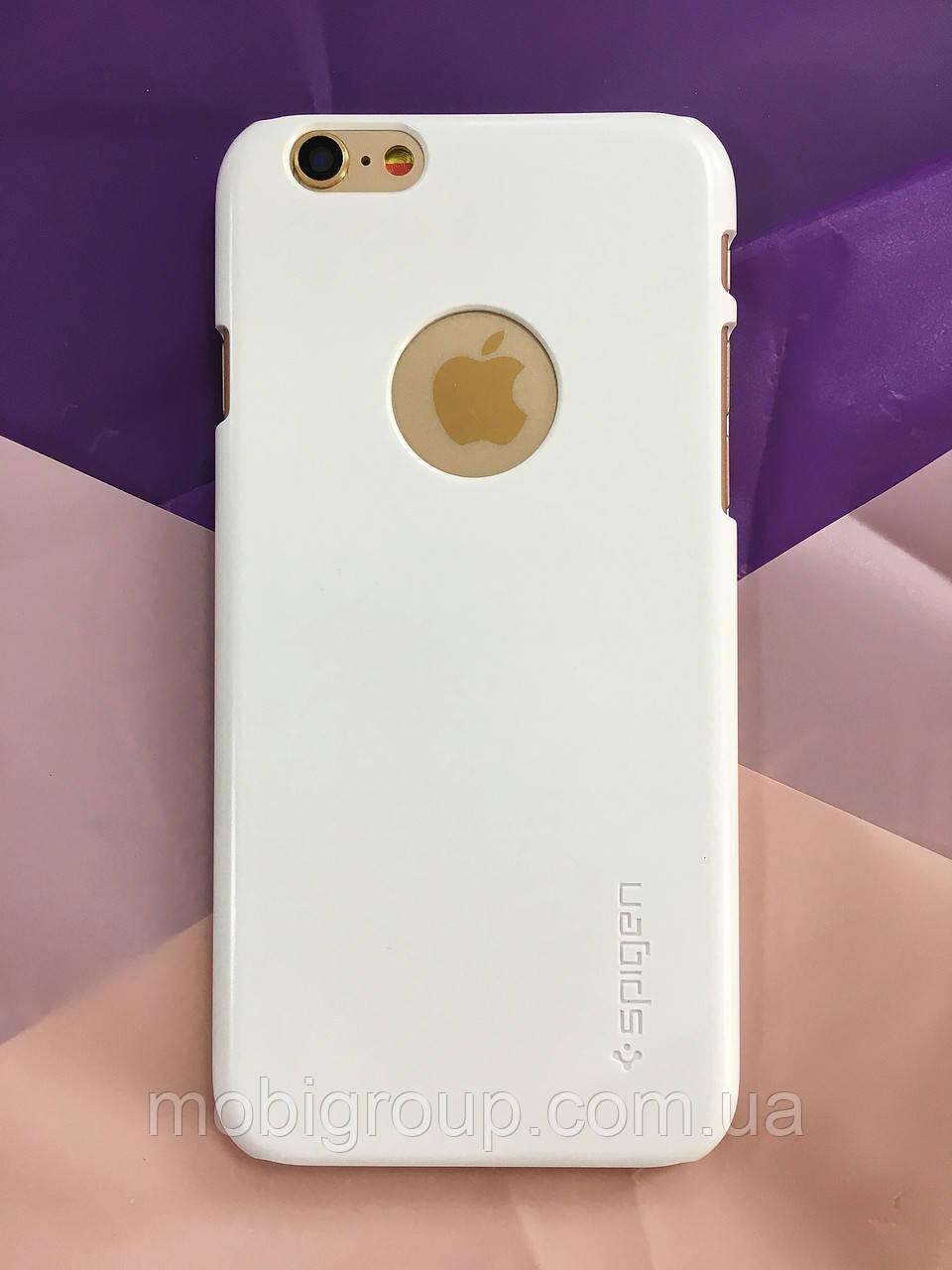 Чехол Spigen Thin Fit с вырезом под Logo iPhone 6S\6 (HQ-копия), White