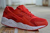Женские кроссовки Nike Huarache красные, копия, фото 1