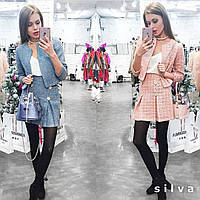Костюм,пиджак и юбка из букле 0063
