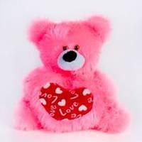 Мишка с сердцем маленький арт. 000010, подарок на день Валентина, мягкие игрушки детские