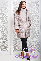 Весенняя женская бежевая куртка больших размеров (р. 44-58) арт. 970 Тон 1