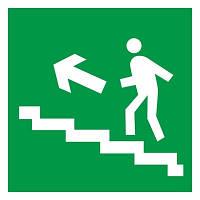 """Самоклеющаяся этикетка 50х50мм """"Направление к эвакуационному выходу по лестнице налево вверх"""" ИЭК. IEK"""