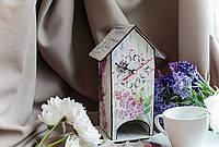 Чайный домик с часами «Сирень»