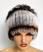 Меховые шапки из Rex Rabbit Ананас (ш.р2).