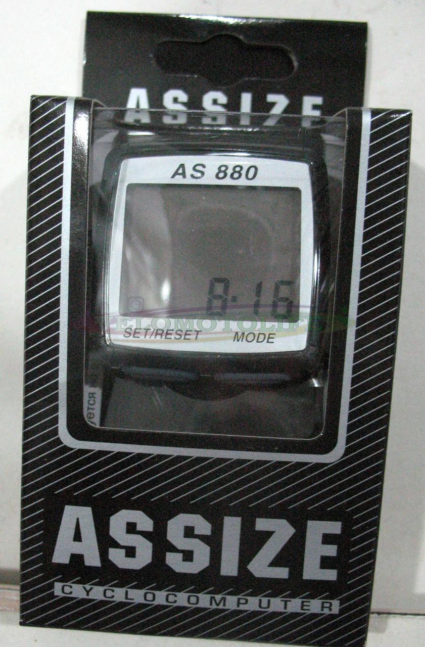 Велокомпьютер ASSIZE AS-880  проводной (11 режимов)