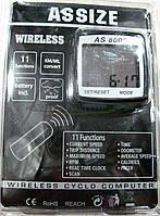 """Велокомпьютер ASSIZE AS-8000  беспроводной (11 режимов)  """"Тайвань"""""""