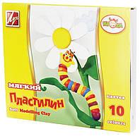 Пластилин Кроха мягкий 10 цв. 165 г. 12с875-08