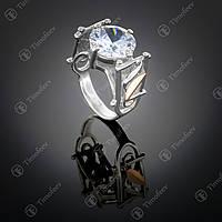 Серебряное кольцо с цирконием. Артикул П-059