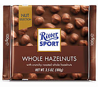 Шоколад Ritter Sport Whole Hazelnuts (Риттер Спорт с фундуком), 100 г, фото 1