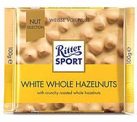 Белый шоколад Ritter Sport White Whole Hazelnuts (Риттер Спорт с фундуком), 100 г