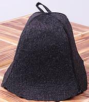 Шапка для бани черная
