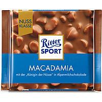 Шоколад Ritter Sport Macadamia (Риттер Спорт с орехом макадамия), 100 г