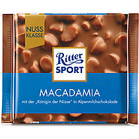 Шоколад Ritter Sport Macadamia (Риттер Спорт с орехом макадамия), 100 г, фото 1