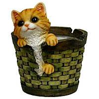 Кашпо мале кошеня з кошиком