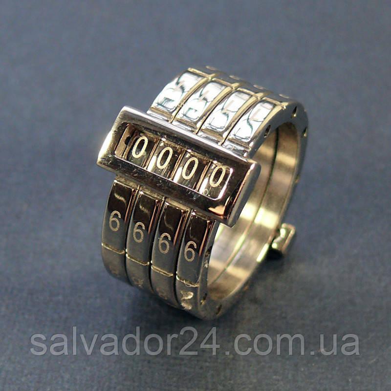 Кольцо SPIKES CHROMIUM со шкалой, 18 размер
