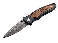 Нож складной Boker Tirpitz Damascus - армейский, фото 1