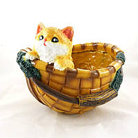 Кашпо для растений корзина с котенком