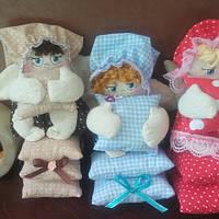 Бязевая кукла Ангел - сплюха на маленьких подушках