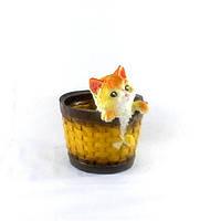 Кашпо для растений Котёнок в кошёлке