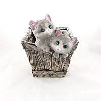 Кашпо для растений Котята в ящику