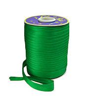 Косая бейка (атласная) - цвет зеленый