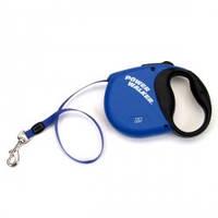 Рулетка-поводок для собак Power Walker, синий | 20кг | 5 м.