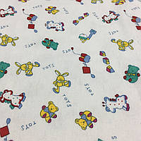 Фланель (байка)  Toys с игрушками: мишками, зайчиками, кубиками