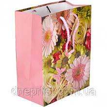 Подарочный пакет, 23×18×10 см / цветы 3