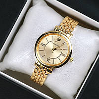 Часы женские Swarovski Ritta золотые, магазин часы 2016